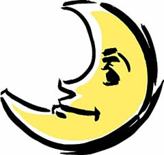 お月さまを見た話 二夜